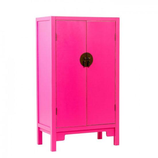 Anji 2 Door Spice Cupboard in Pink