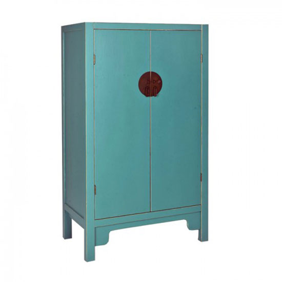 Anji 2 Door Spice Cupboard in Teal