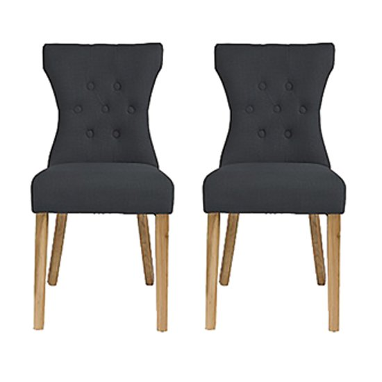 Optro Grey Fabric Dining Chairs In Pair_1