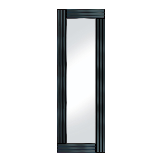 Black Panel 120x40 Narrow Mirror