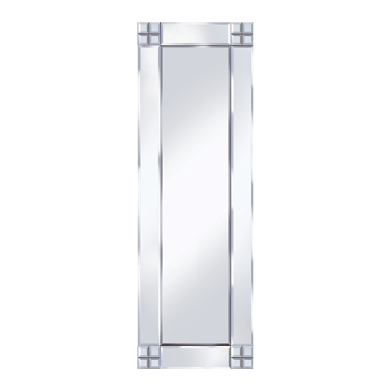 Multi Square Design 120x40 Decorative Mirror