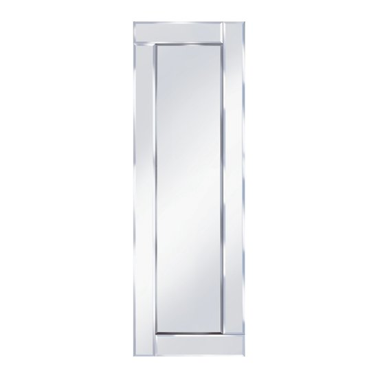 Bevelled 120x40 narrow wall mirror 15130 furniture in for Narrow wall mirror decorative
