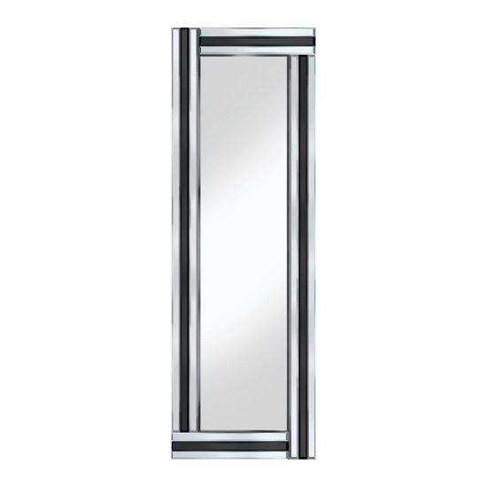 Bevelled 120x40 narrow wall mirror for go for Narrow mirror