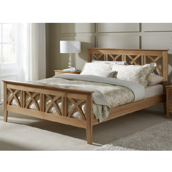 Natalia Contemporary Wooden Bed In American White Oak