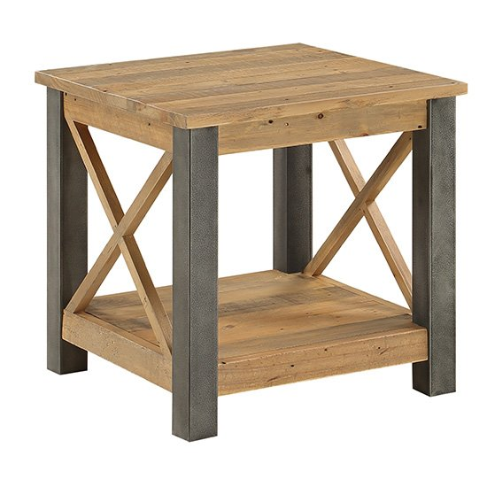 Nebura Wooden Lamp Table In Reclaimed Wood_2