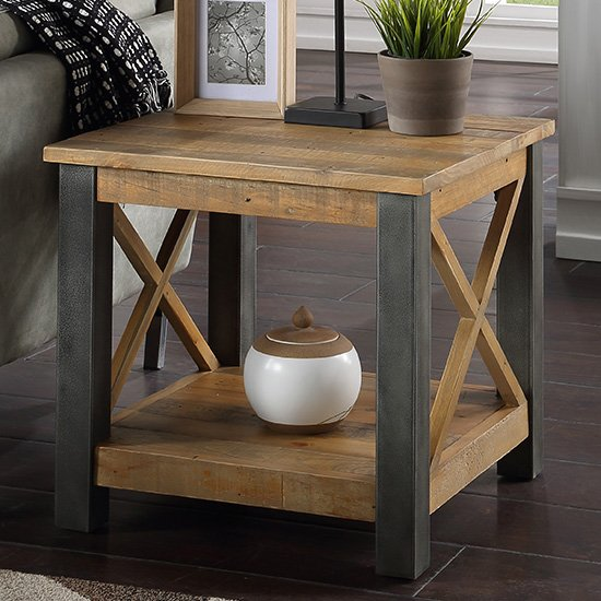 Nebura Wooden Lamp Table In Reclaimed Wood_1