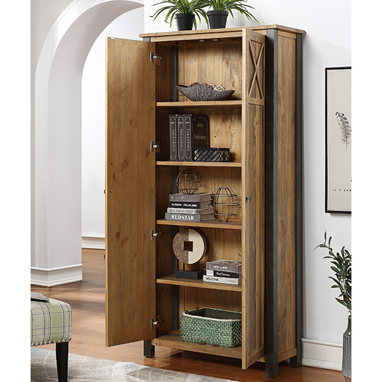 Nebura Wooden Storage Cabinet In Reclaimed Wood_2