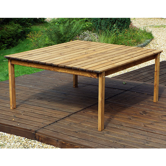 Necova Large Square Wooden Dining Table_1