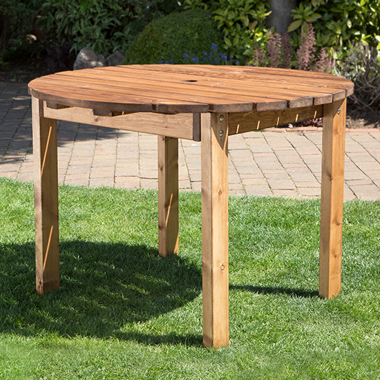 Necova Small Round Wooden Dining Table_1