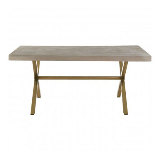 Nekkar Wooden Dining Table In Whitewash With Iron Legs