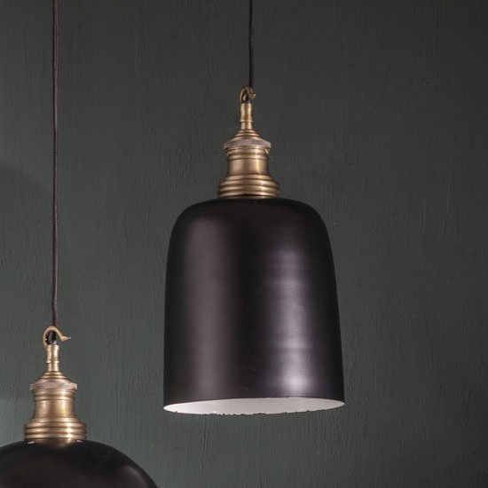 Nelson Wall Hung Pendant Light In Black