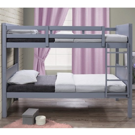 Napoli Wooden Children Bunk Bed In Grey_2