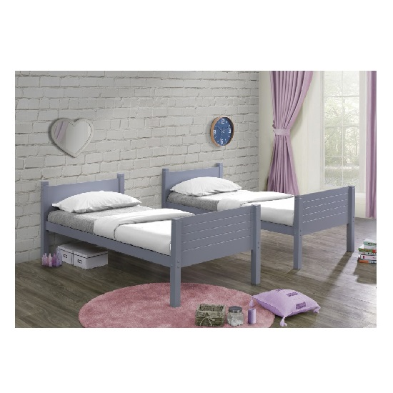 Napoli Wooden Children Bunk Bed In Grey_3