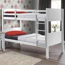 Napoli Wooden Children Bunk Bed In White