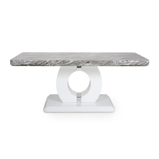 Neville Marble Gloss Effect Coffee Table With White Base_3