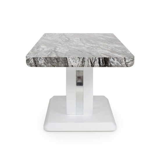 Neville Marble Gloss Effect Coffee Table With White Base_4