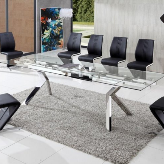 Find your perfect and modern 8 seater glass dining table sets in a wide range of selection including extending, rectangle, black, white and more