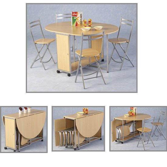 new budget butterfly - Butterfly Drop Leaf Table With 4 Folding Chairs: Another Means Of Optimizing Your Space