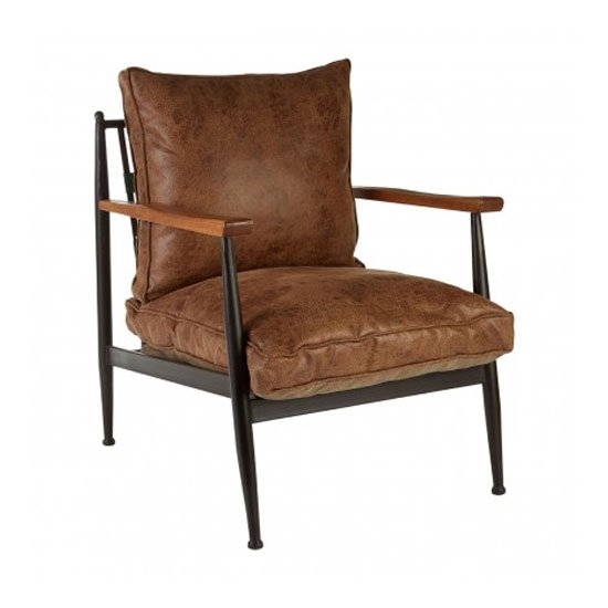 New Voundry Metal Armchair In Brown_2