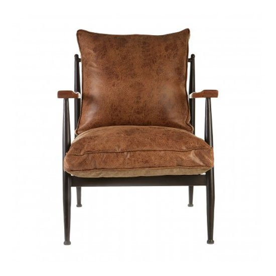 New Voundry Metal Armchair In Brown_1