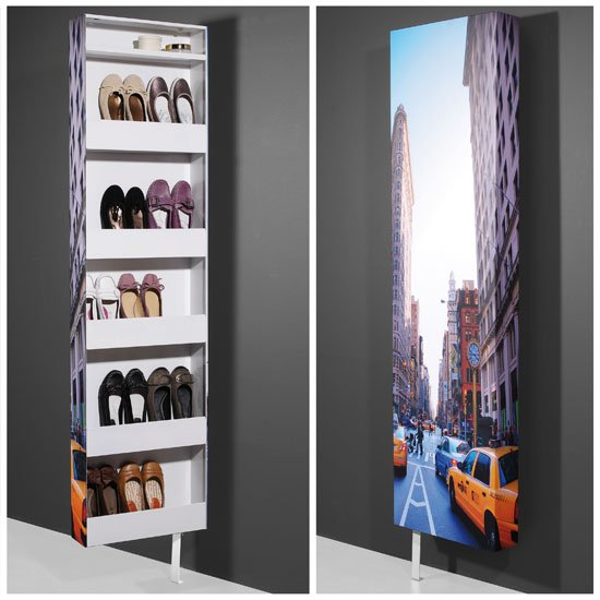 New York Shoe Rack Rotating In Metal