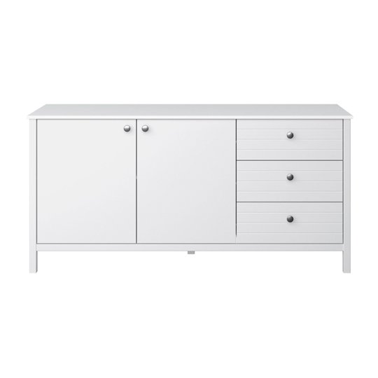 New York Sideboard In White With 2 Doors And 3 Drawers_2