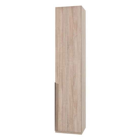 Product photograph showing New York Wooden Wardrobe In Oak With 1 Door