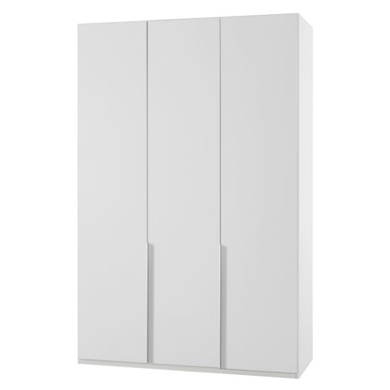 New York Wooden Wardrobe In White With 3 Doors