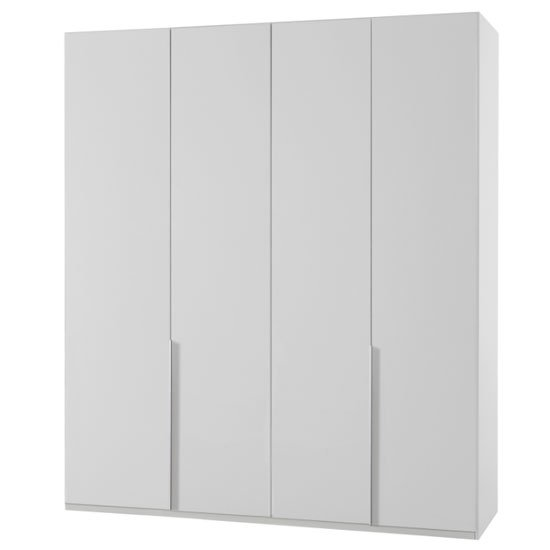 New York Wooden Wardrobe In White With 4 Doors_1
