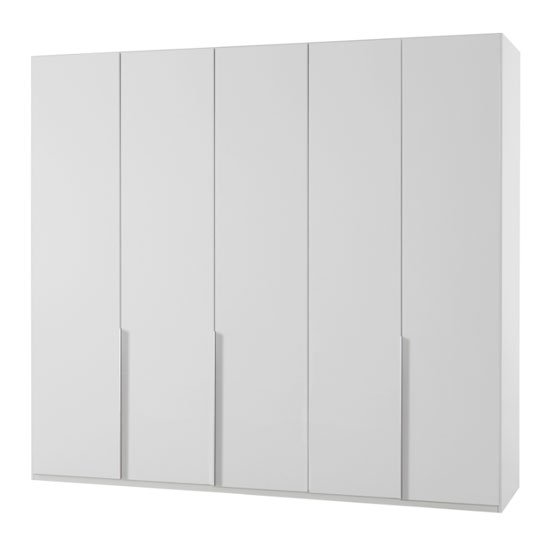 New York Wooden Wardrobe In White With 5 Doors_1