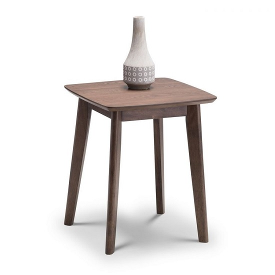 Newbury Wooden Lamp Table Square In Walnut