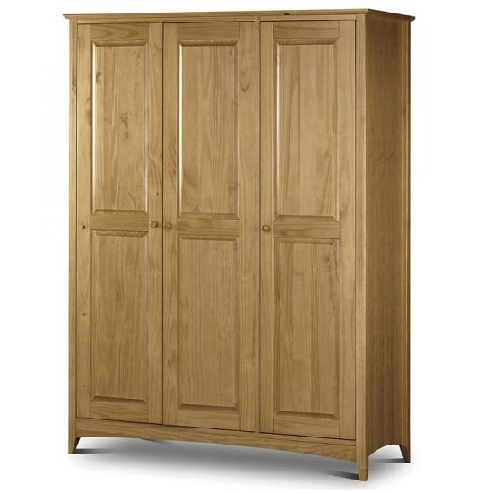 Newman Three Doors Wardrobe In Oak Sheen Lacquer Finish