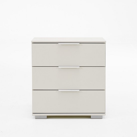 Newport Bedside Cabinet In Alpine White With 3 Drawers