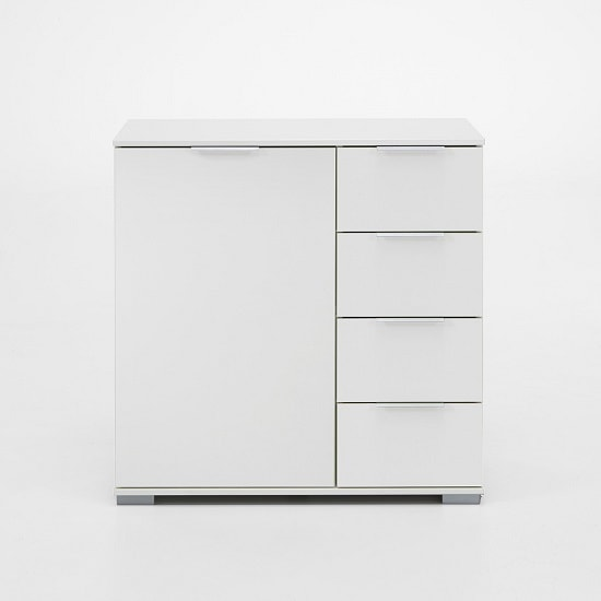 Newport Wooden Chest Of Drawers In Alpine White