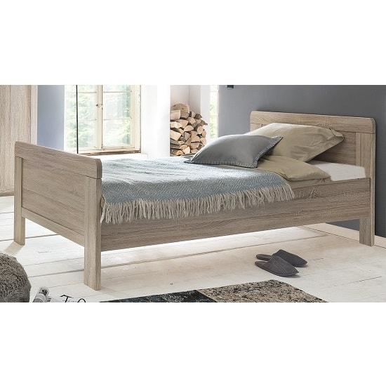 Newport Wooden Single Bed In Oak Effect