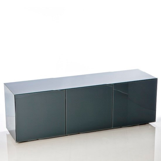 Nexus Large TV Stand In Grey High Gloss With Wireless Charging_2