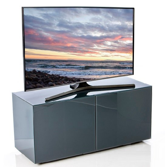 Nexus Small TV Stand In Grey High Gloss With Wireless Charging