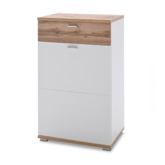 Nia Wooden Left Handed Chest Of Drawers In White
