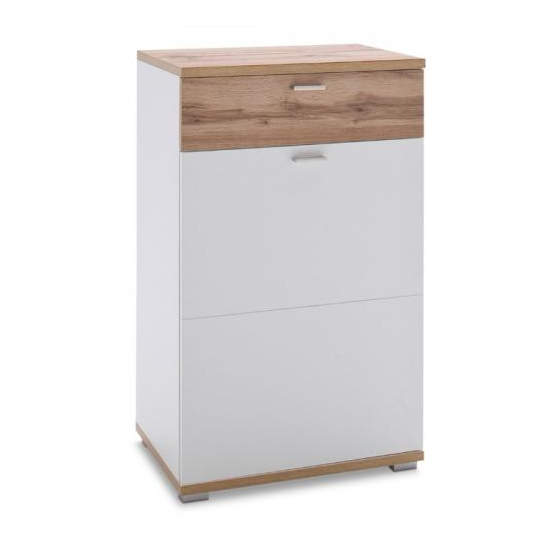 Nia Wooden Right Handed Chest Of Drawers In White