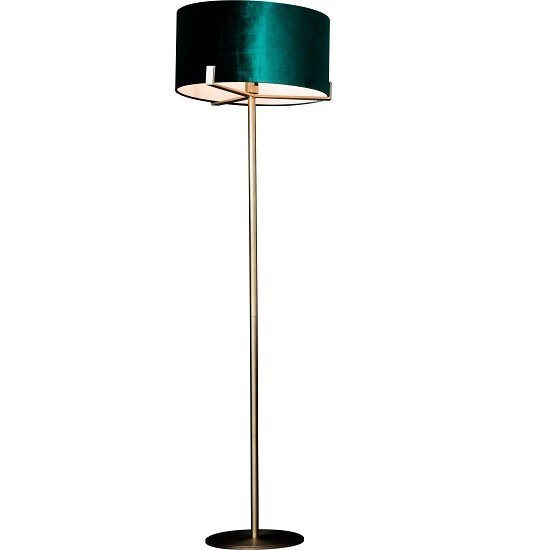 View Nicholson floor lamp with emerald green shade