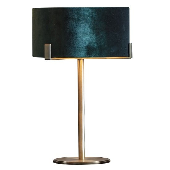 Nicholson Table Lamp With Emerald Green Shade