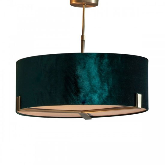 Nicholson Wall Hung Pendant Light In Emerald Green