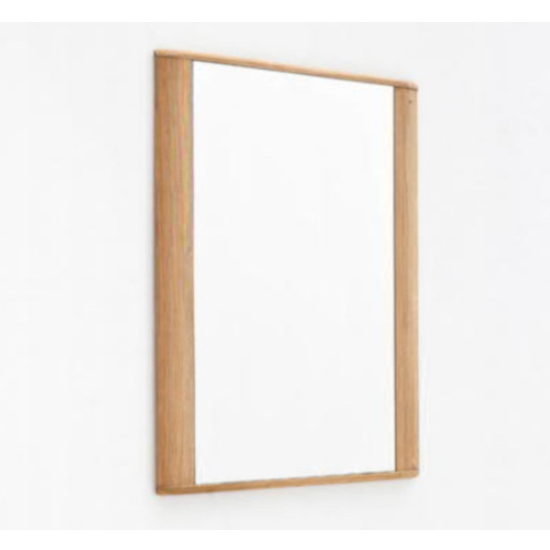 Nilo Wall Mirror In Planked Oak Wooden Frame