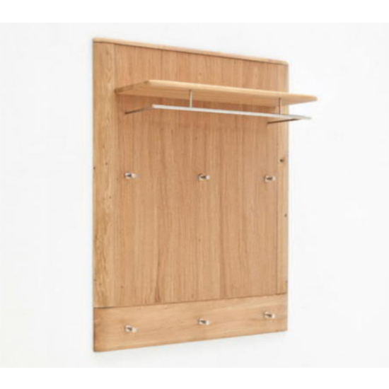 Nilo Wooden Coat Rack Panel In Planked Oak