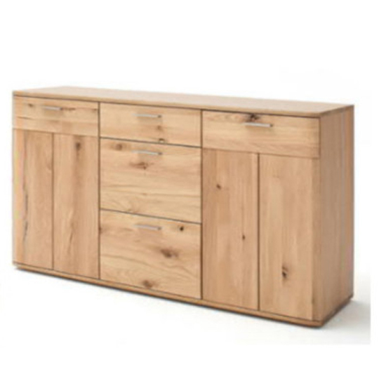 Nilo Wooden Sideboard In Planked Oak With 2 Doors 3 Drawers