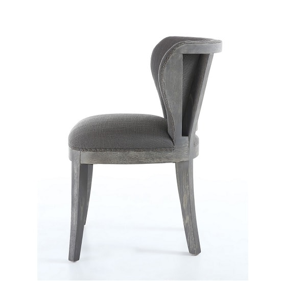 Niobe Fabric Dining Chair In Antique Grey In A Pair_3