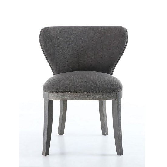 Niobe Fabric Dining Chair In Antique Grey In A Pair_2