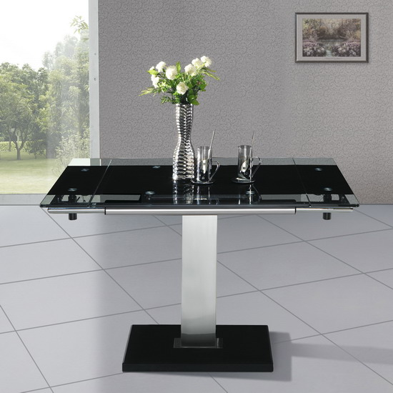 nitro dining table blk - Dining Room Table Sizes Guide By Room Shape
