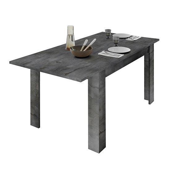 Nitro Extending Wooden Dining Table In Oxide