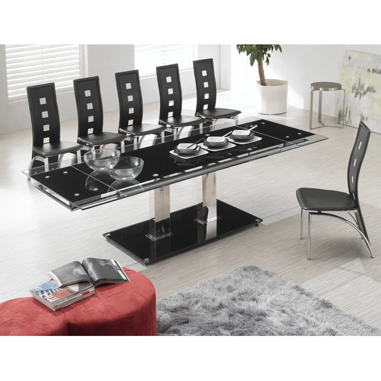 nitro large extending dining table picasso black chair - Dining Tables And Chairs Add Elegance to Your Dining Room